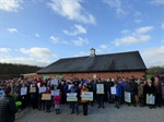 250 residents brave the cold to protest against the proposed science park